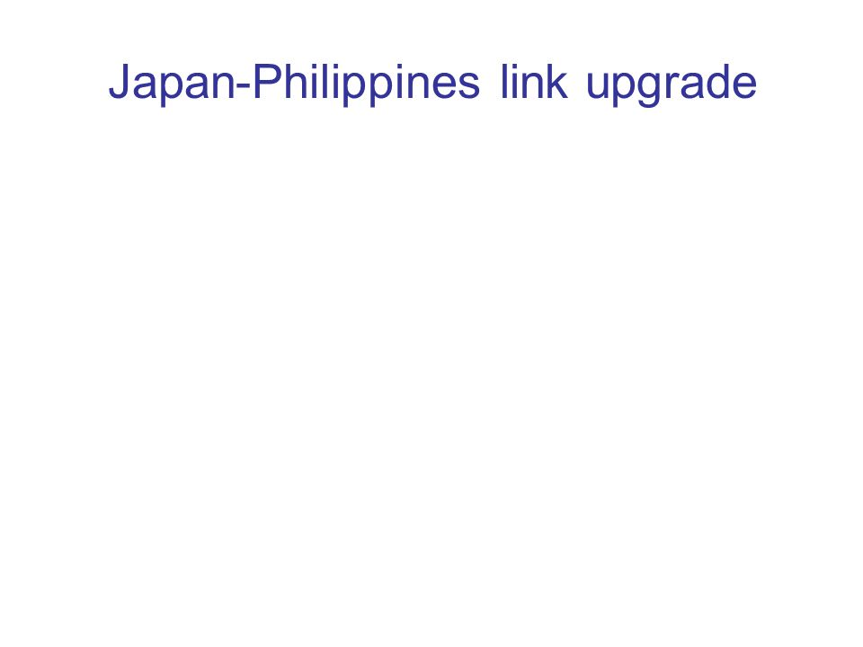Japan-Philippines link upgrade