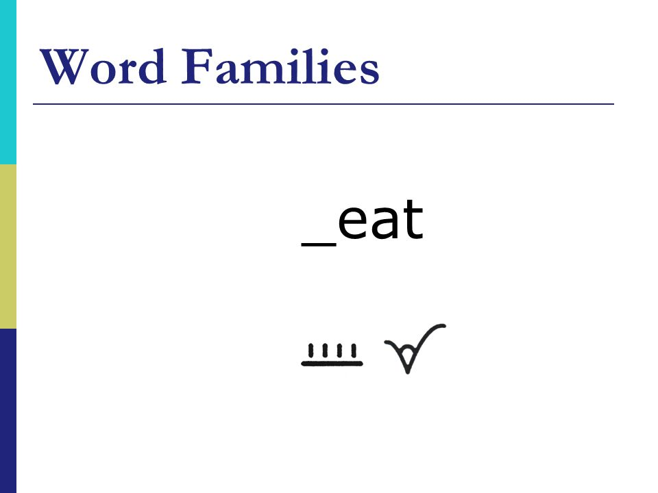 Word Families _eat