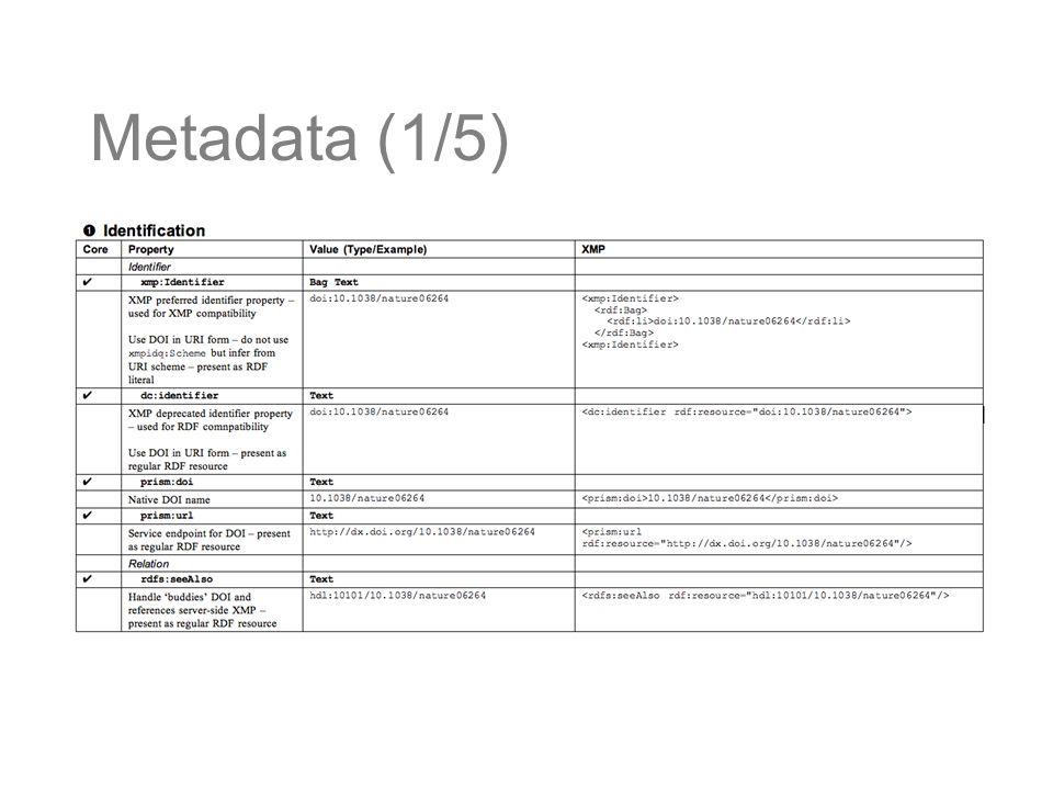 Metadata (1/5)