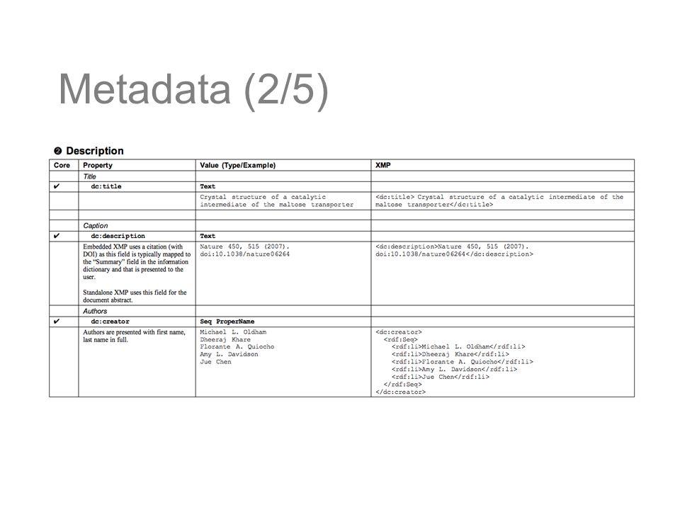Metadata (2/5)