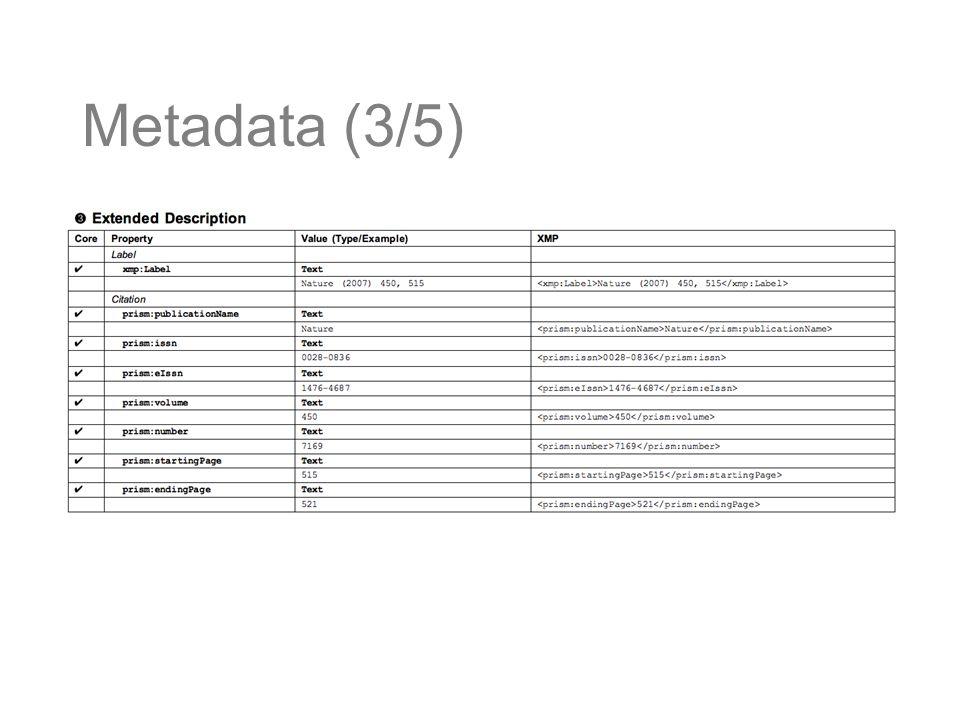 Metadata (3/5)