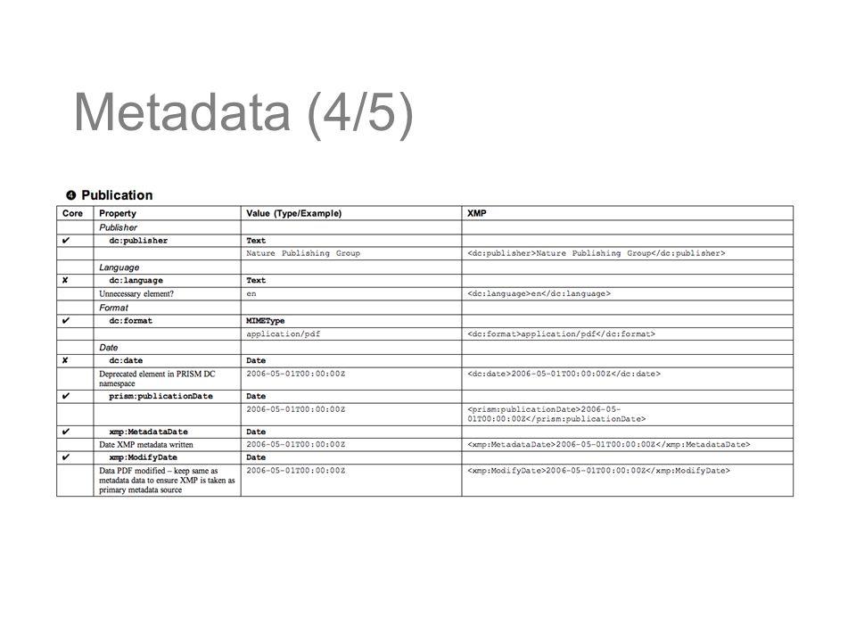 Metadata (4/5)