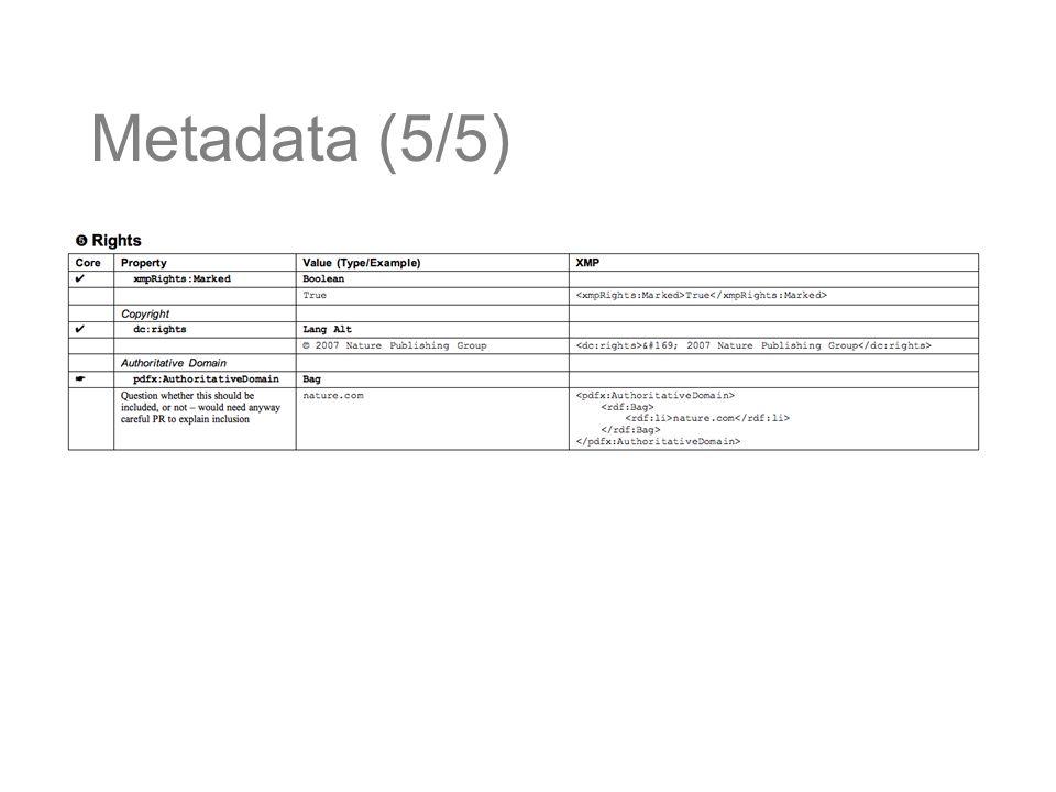 Metadata (5/5)