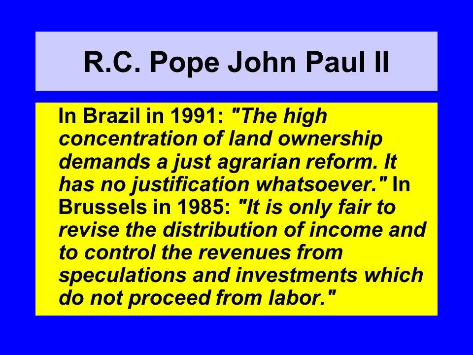 R.C. Pope John Paul II In Brazil in 1991: