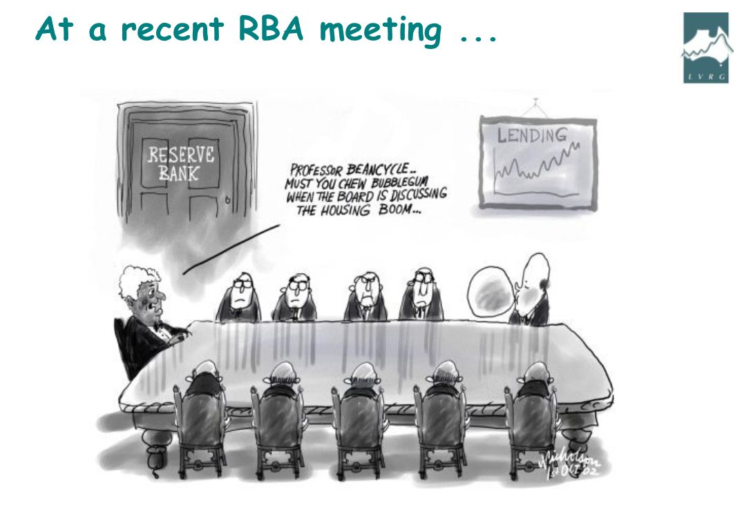 At a recent RBA meeting...