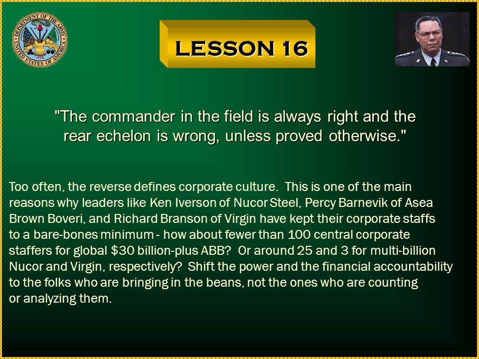 LESSON 15 Part I: