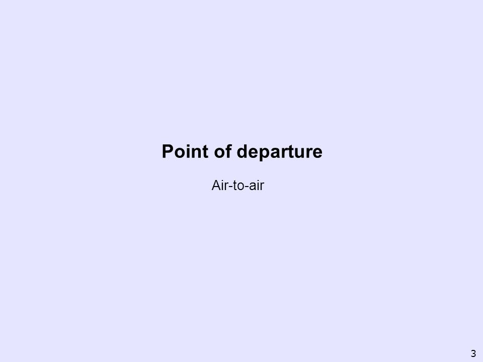 Point of departure Air-to-air 3