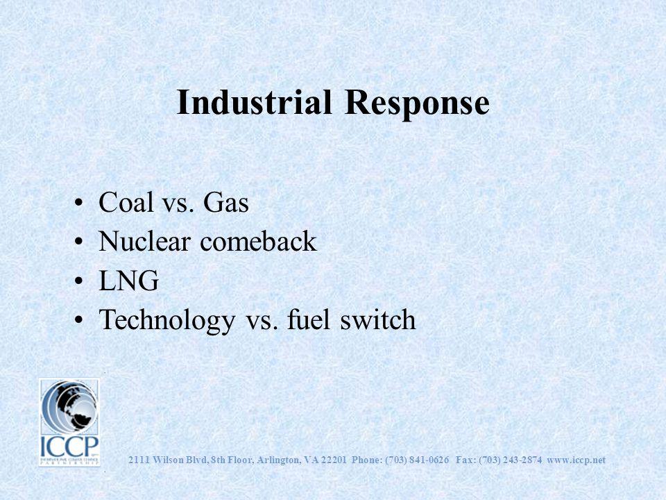 Industrial Response Coal vs. Gas Nuclear comeback LNG Technology vs.