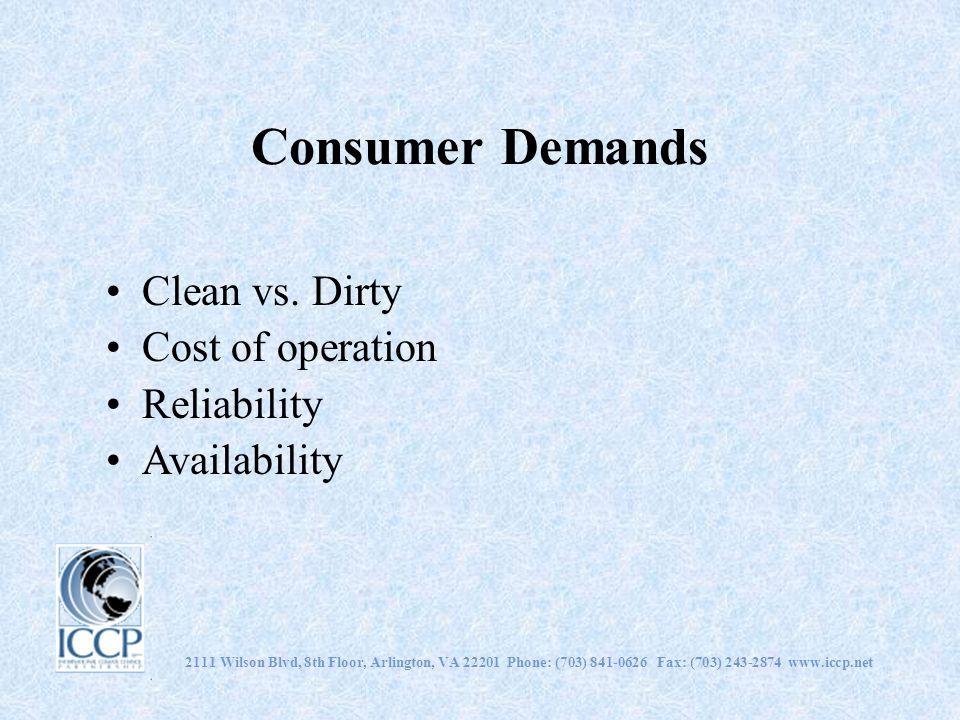 Consumer Demands Clean vs.