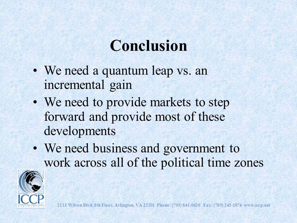 Conclusion We need a quantum leap vs.