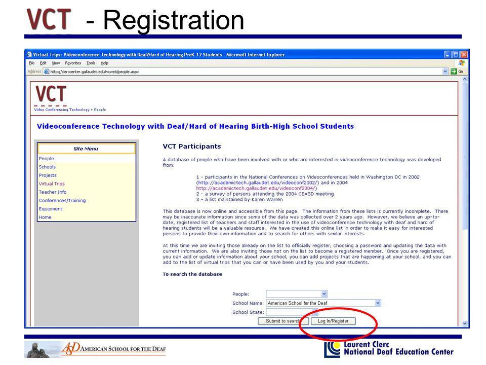 - Registration