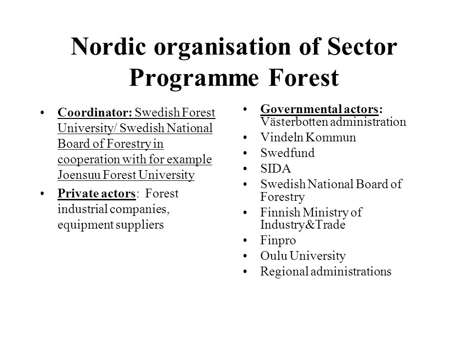 Partners in Russia KOMI: Ministry of Industry, Forest Institute, Voluntary School no 20, Mondi Pulp and Paper, Local forest companies ( ARCHANGELSK: Regional administration, Technical university, Forest college, Association of SME forest companies, Local forest companies) KARELIA: Ministry of Economic Development, SKBIC, Petrozavodsk State University, Kostamus City Administration, Local forest companies