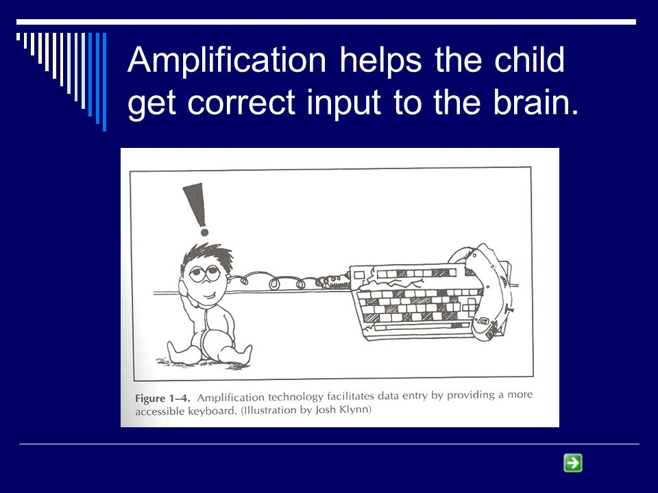 Amplification helps the child get correct input to the brain.