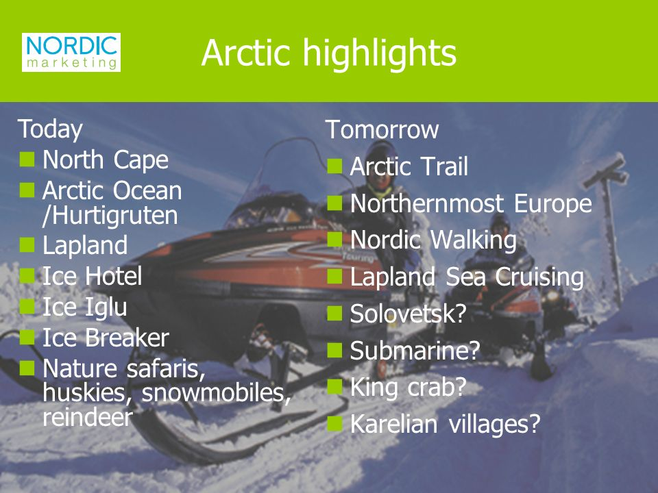 Tomorrow Arctic Trail Northernmost Europe Nordic Walking Lapland Sea Cruising Solovetsk.