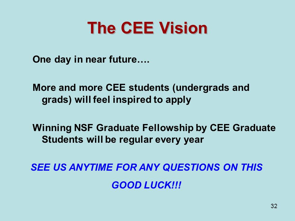 32 The CEE Vision One day in near future….