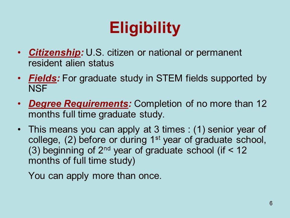 6 Eligibility Citizenship: U.S.