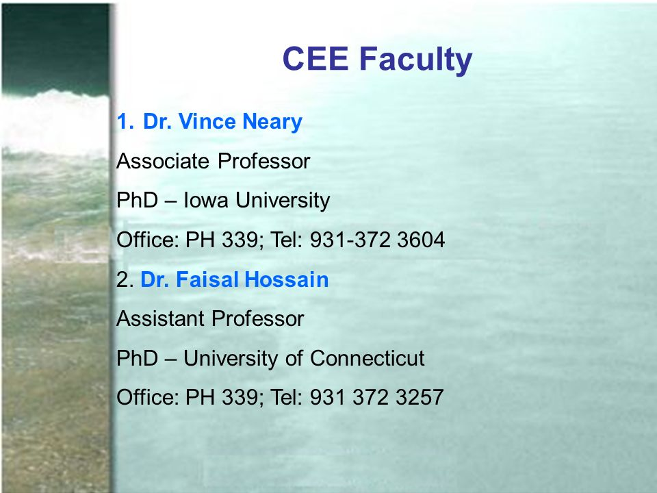 CEE Faculty 1.Dr.