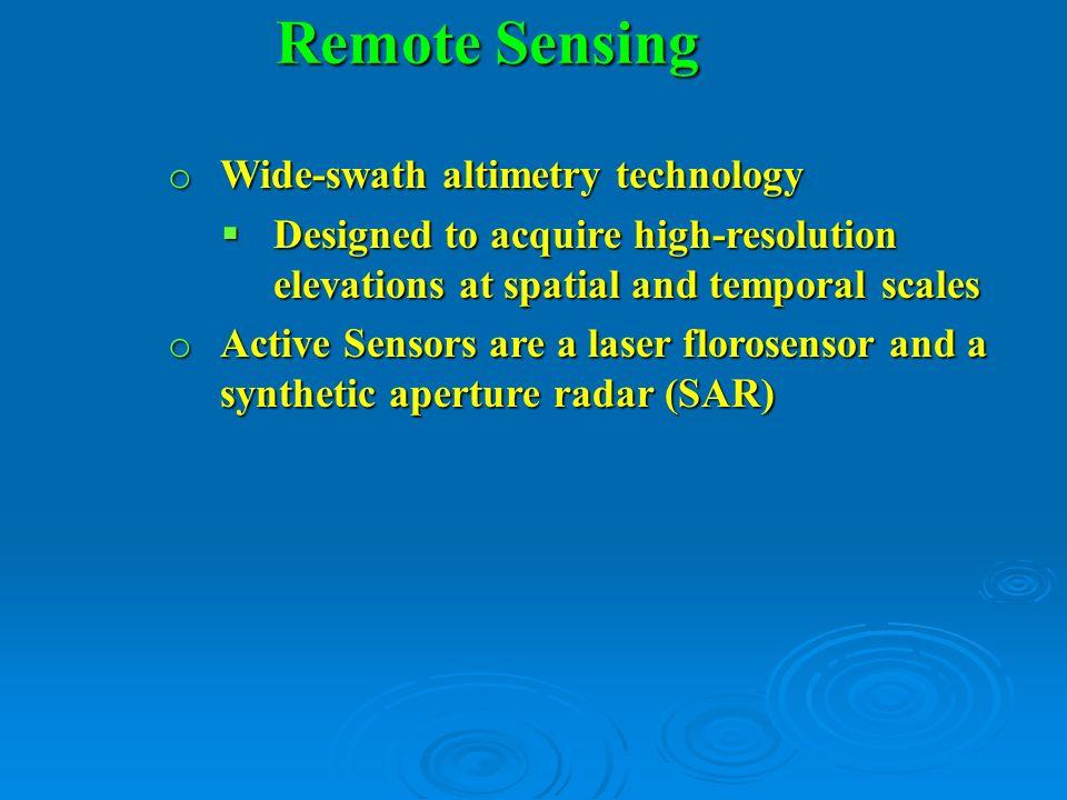 Instruments o Ka –or Ku-Band Radar………………….27.5-32GHz o Ku-Band Altimeter (Kurz-unten Band)..12-18 GHz o Microwave Radiometer (MWR)..Ka-Band radar is a new type named Ka-band Radar Interferometry (KaRIN).