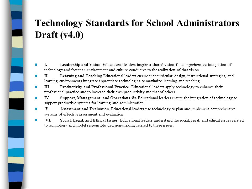 Principals Principal leadership matters NETS-A standards suggest its dimensions