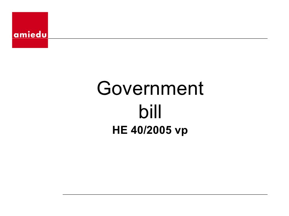 Government bill HE 40/2005 vp