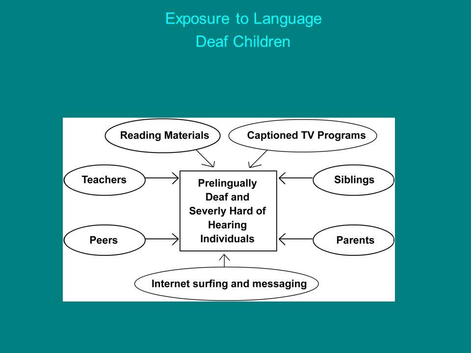 Exposure to Language Deaf Children