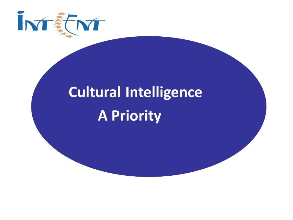 Cultural Intelligence A Priority