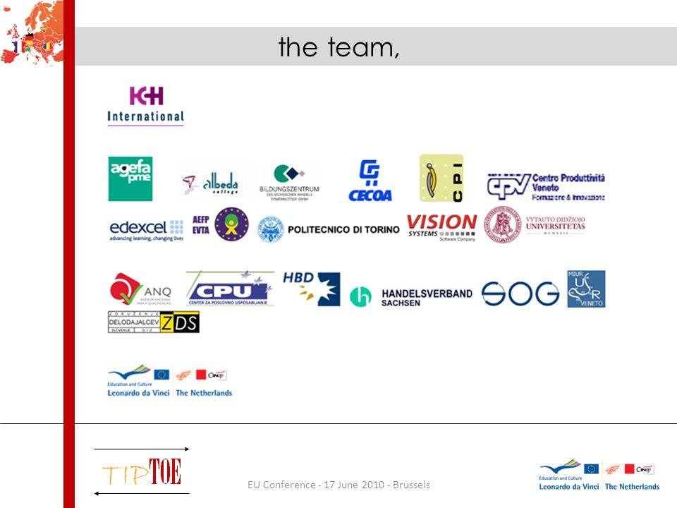 EU Conference - 17 June 2010 - Brussels the methodology,