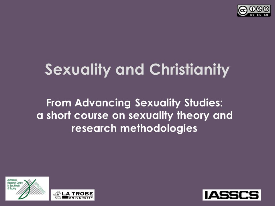 12 Brainstorm What aspects of sexuality are usually of concern to the Christian church.