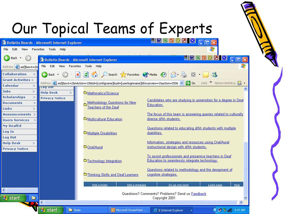 Our Topical Teams of Experts