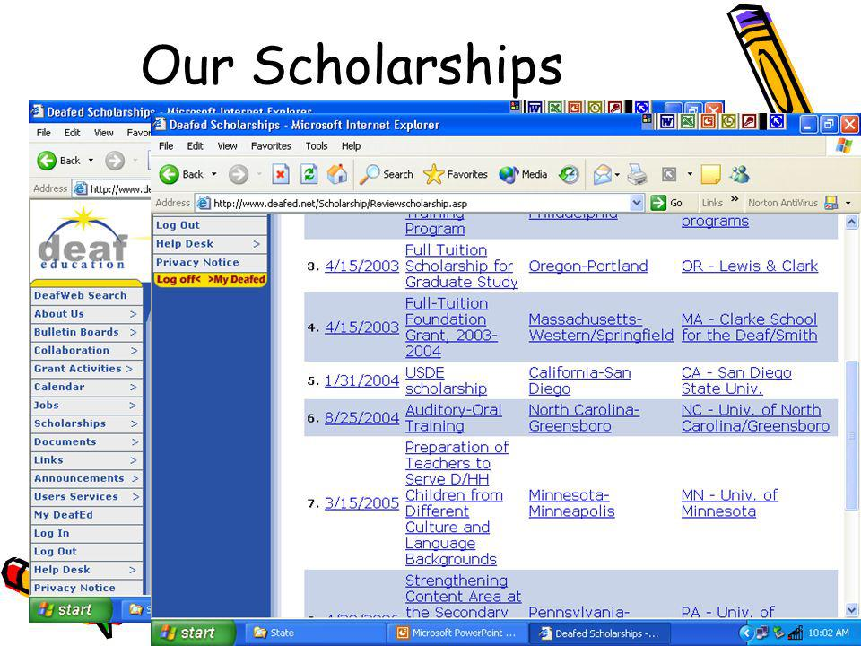 Our Scholarships