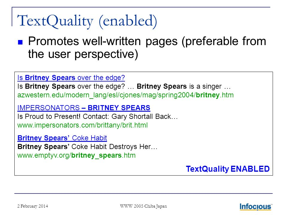 2 February 2014 WWW 2005 Chiba Japan Is Britney Spears over the edge.