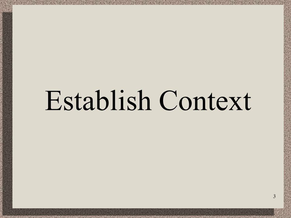 3 Establish Context