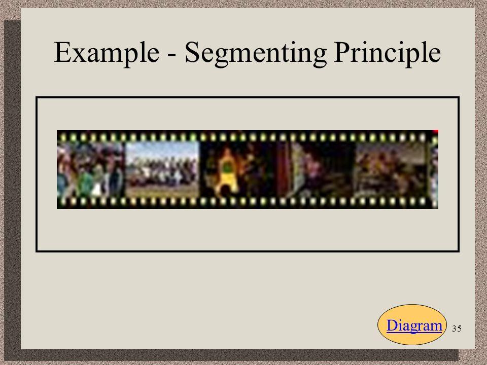 35 Example - Segmenting Principle Diagram