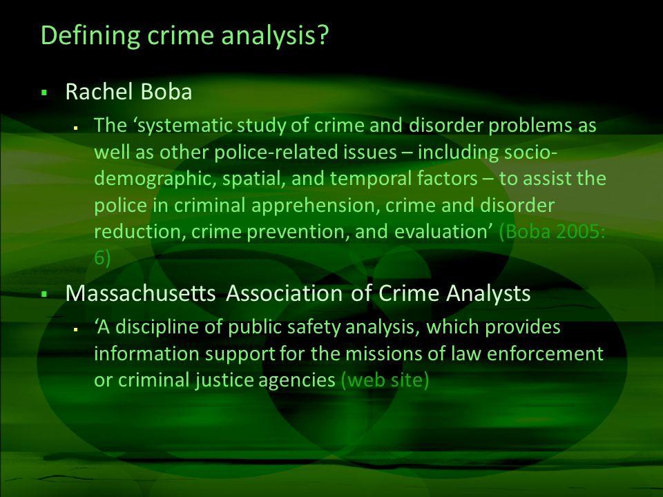 Crime intelligence.