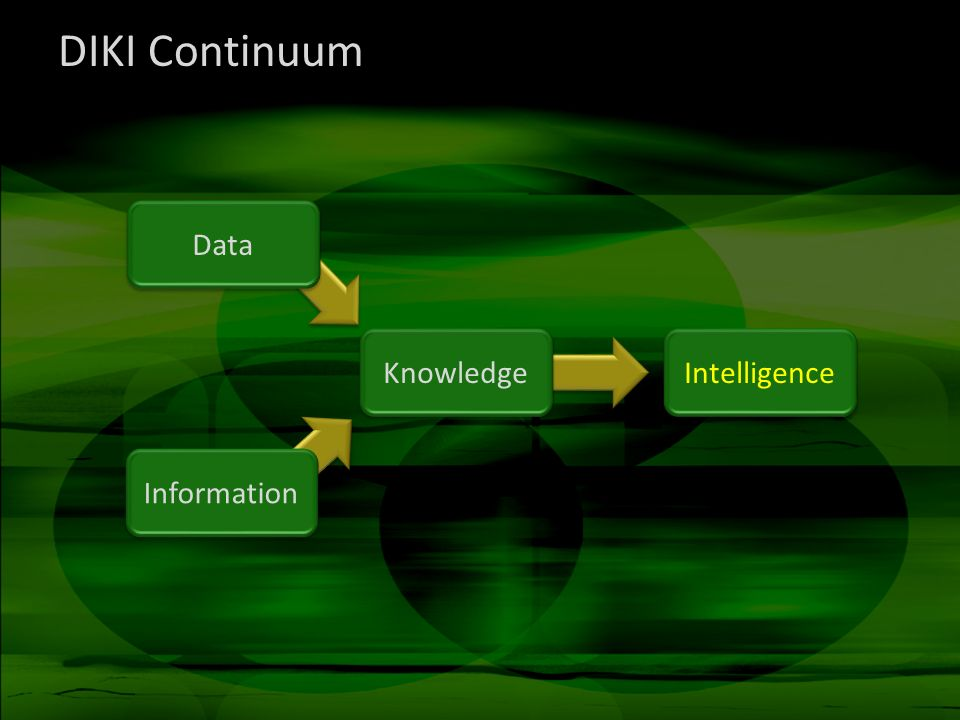 DIKI Continuum Data Information Knowledge Intelligence