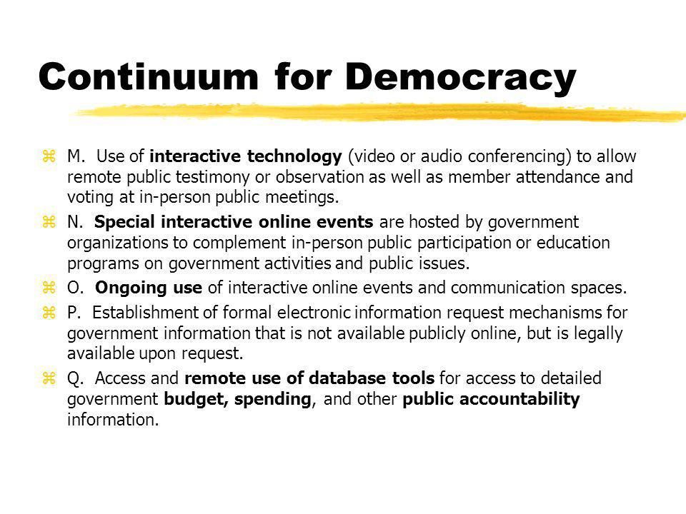 Continuum for Democracy zM.