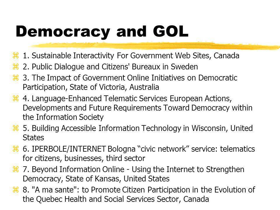 Democracy and GOL z9.Teledemocracy, Finland z10.