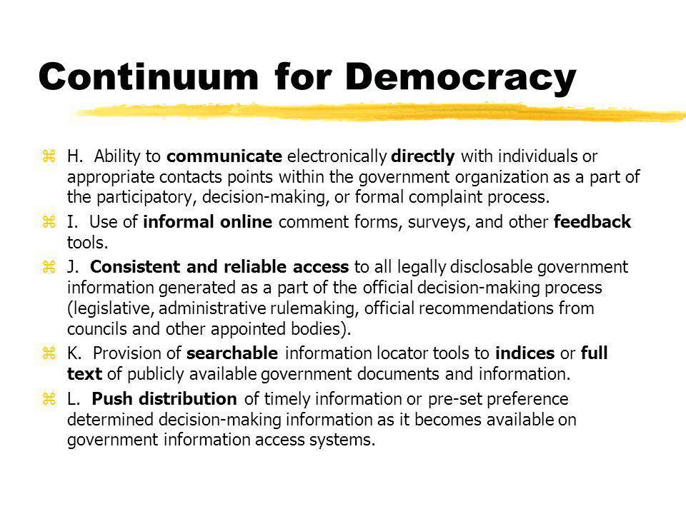 Continuum for Democracy zM.