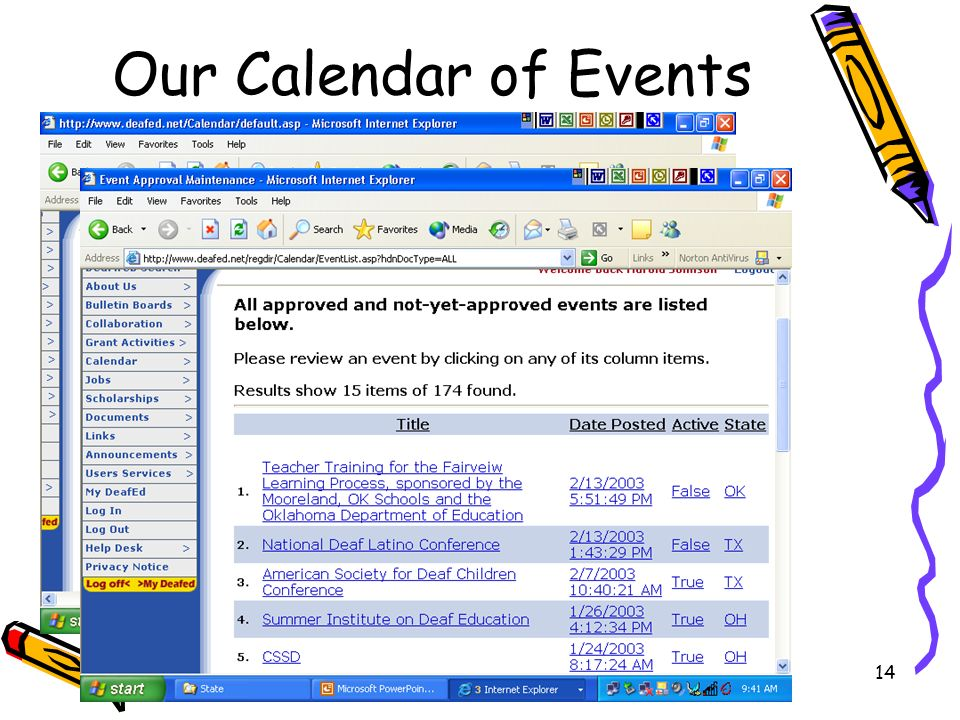 H Johnson14 Our Calendar of Events