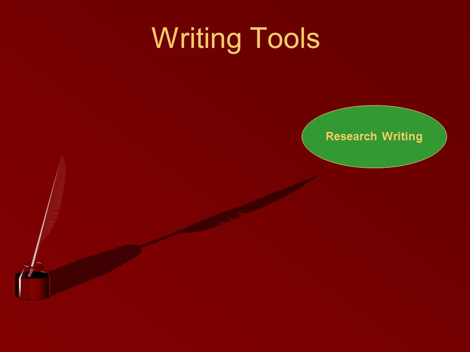 Writing Tools Research Writing