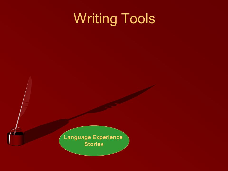 Writing Tools Language Experience Stories