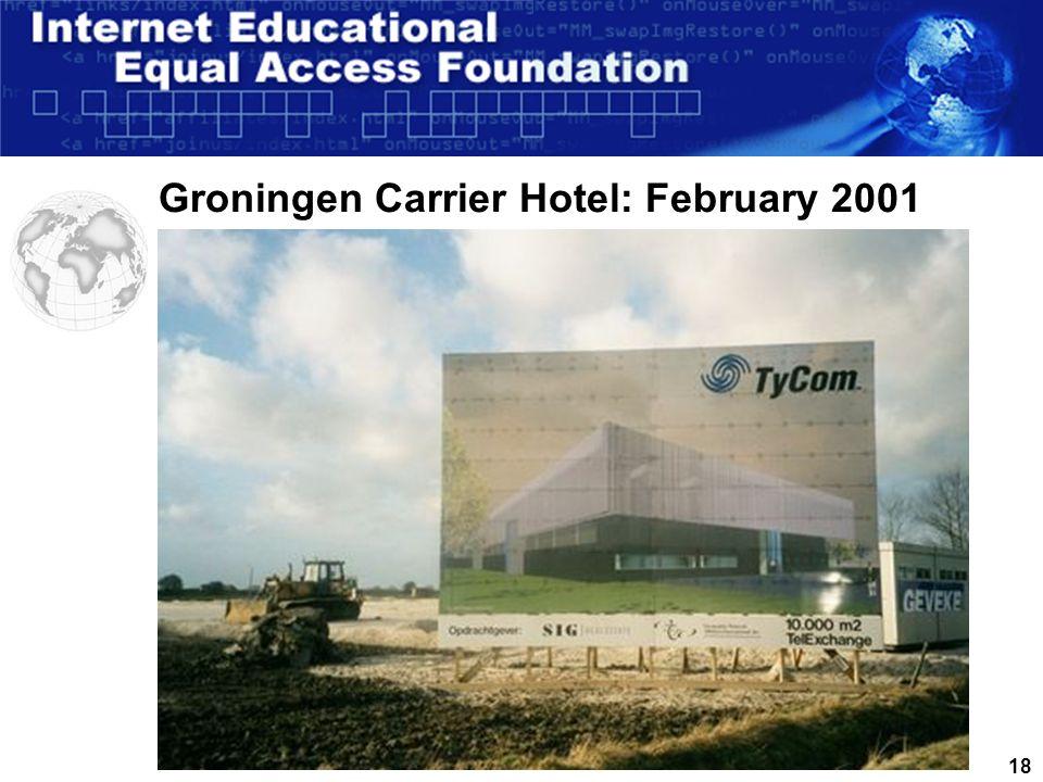 17MunicipalityTycom Essent Amsterdam Groningen Hamburg North AmericaAsia Pacific Eemshaven Groningen: Wet meets Dry = Opportunity