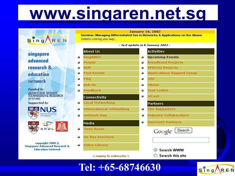 Tel: +65-68746630 www.singaren.net.sg
