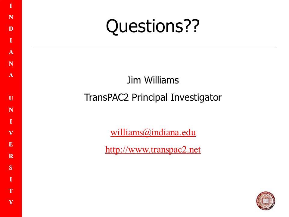 INDIANAUNIVERSITYINDIANAUNIVERSITY Questions .