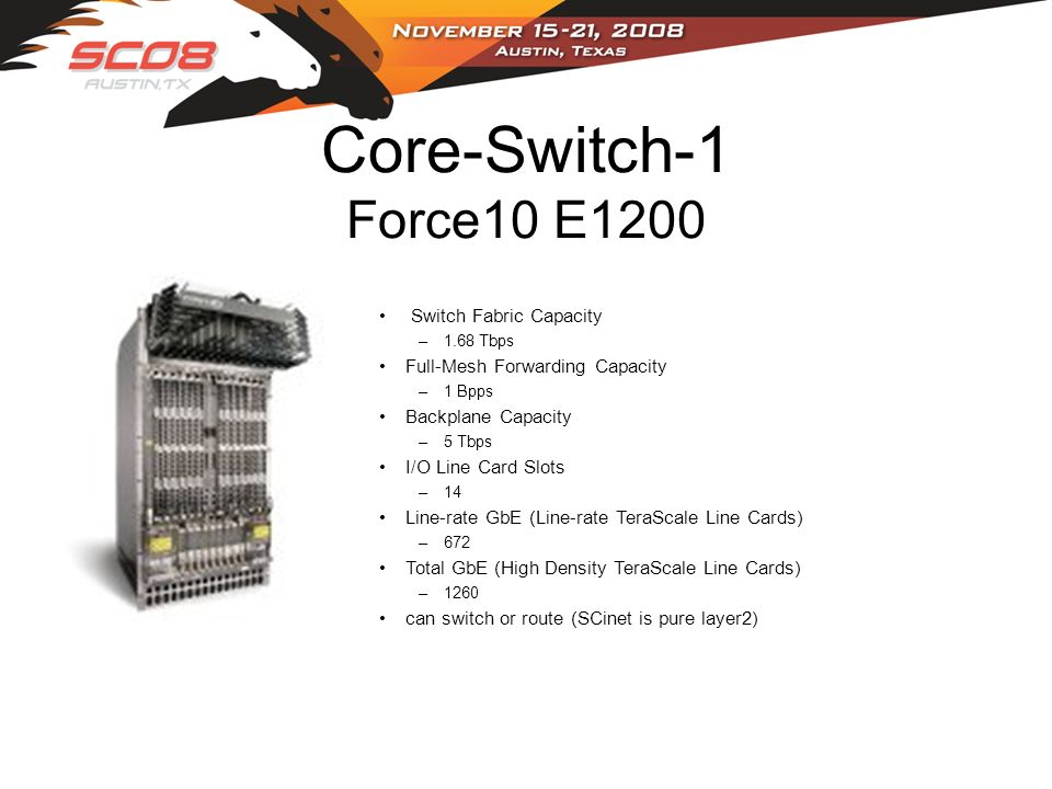 Core-Switch-2 Foundry BigIron RX-16 HighSpeed Layer 2 Switching System redundancy (switch, management and power) across all BigIron RX chassisBigIron RX-4, RX-8, RX-16 and RX-32 Interchangeable half-height line modules reduce sparing costs Advanced virtual output queue (VoQ) design eliminates head of line blocking and provides scalable quality of service High-availability design features redundant and hot-pluggable hardware, hitless Layer 2 software upgrades Advanced non-blocking Clos fabric features adaptive self- routing with graceful system degradation in the event of two or more module failures Embedded sFlow per port supports scalable hardware-based traffic monitoring across all switch ports without impacting performance