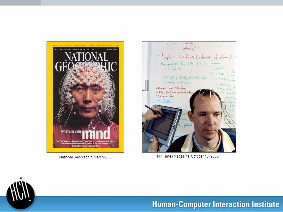 Brain-Computer Interfaces (BCI) A direct technological interface between a brain and computer not requiring any motor output from the user Example Conferences/Journals with BCI interests: Neural Information Processing Systems (NIPS) IEEE Transactions on Biomedical Engineering IEEE Transactions on Neural Systems and Rehabilitation Engineering