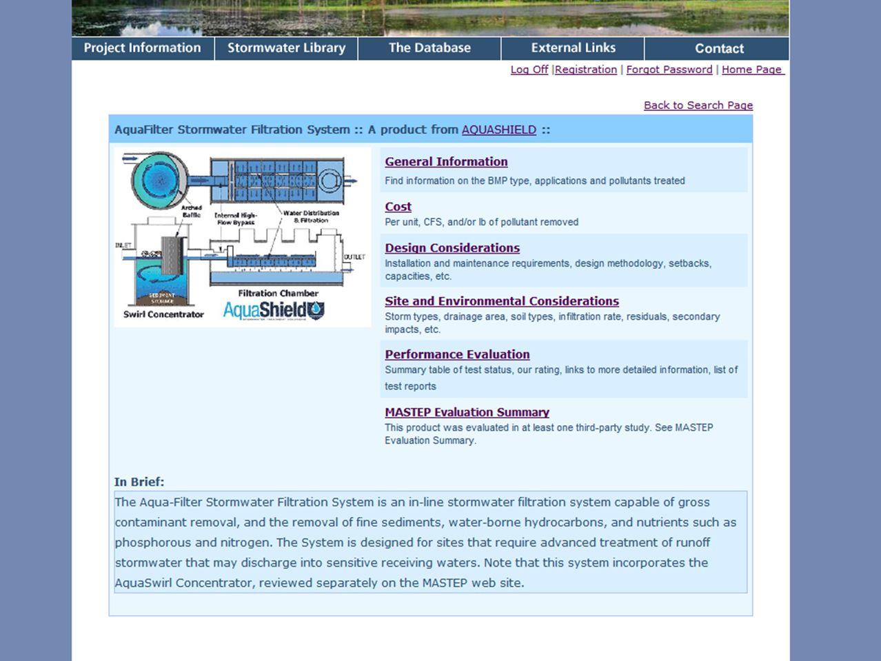 www.mastep.net Massachusetts Stormwater Technology Evaluation Project, UMass