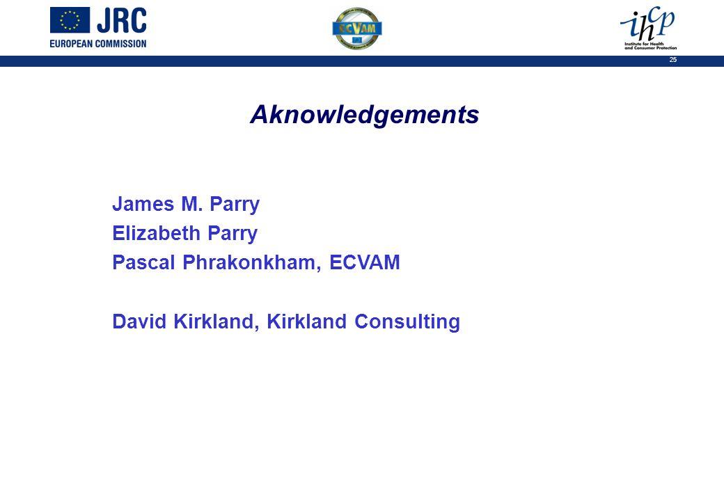 25 Aknowledgements James M.