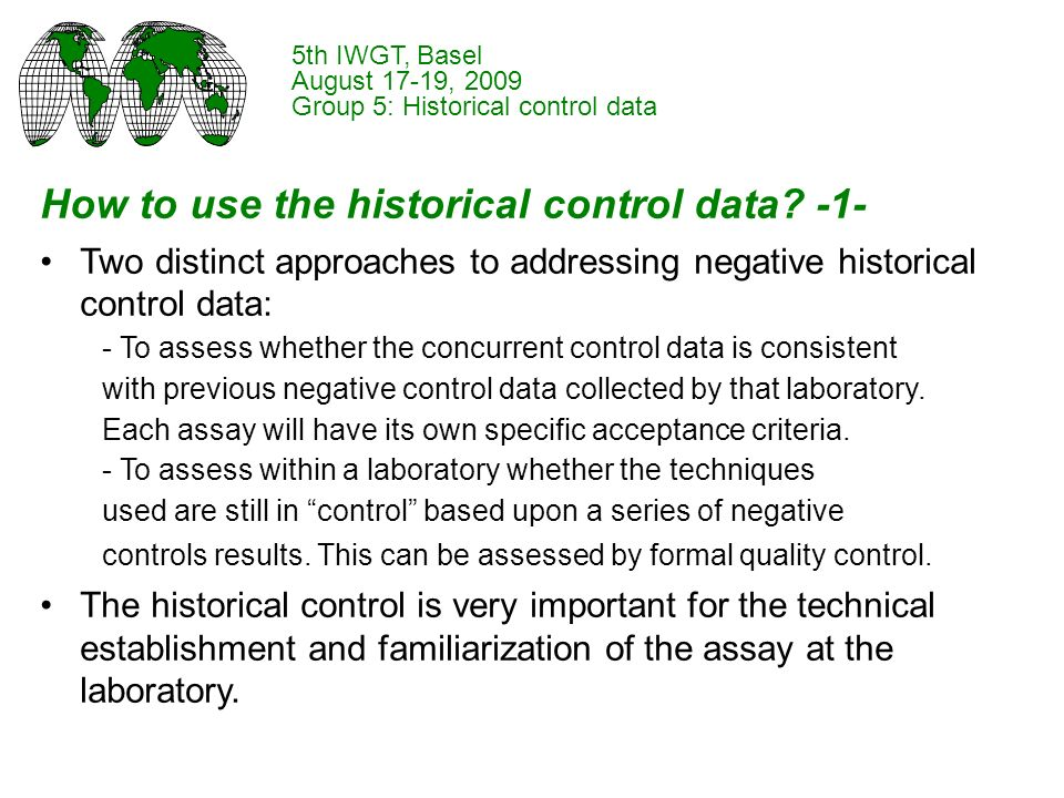 How to use the historical control data.