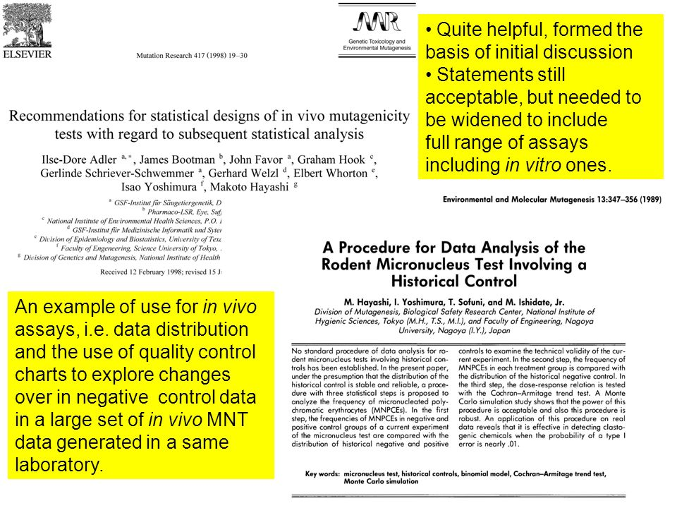 What are the historical control data.-1- It is the complete set of data from previous experiments.